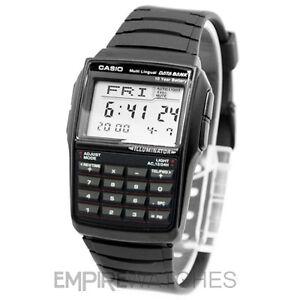 NEW-CASIO-DATABANK-CALCULATOR-RETRO-BLACK-WATCH-DBC-32-1A-RRP-55
