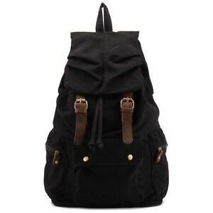 40c7ca91e0 Vintage Black Leather Backpack