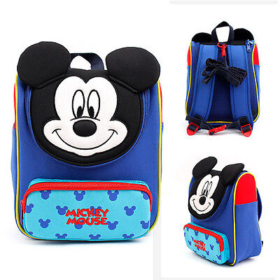 Disney Mickey Mouse Anti-Lost Safety Harness Kids Child Baby Backpack Blue Bag