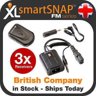 Wireless AC/FM Flash Remote Trigger Kit +3 Receivers for Canon, Nikon + DLSR Wireless Flash Trigger Kit