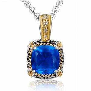 Blue topaz pendant ebay large blue topaz pendant aloadofball Image collections