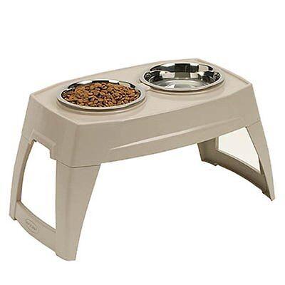 SUNCAST Elevated Dog Bowl Tray Feeder Large Raised Food Water Pet Double Dish