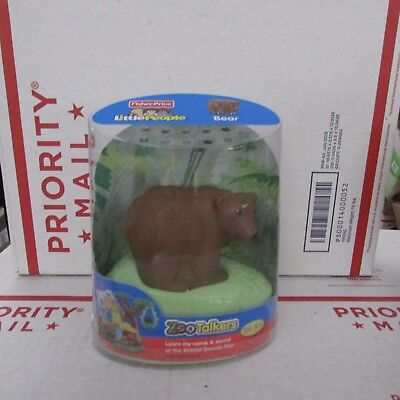 2011 Fisher Price Little People Zoo Talkers BROWN BEAR with Animal Sounds SEALED
