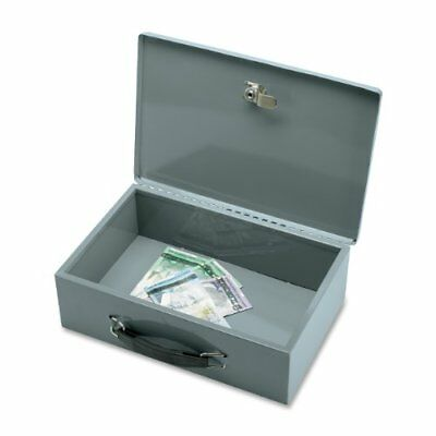 Sparco All-steel Insulated Cash Box - Steel - Gray - 3.8 Height X 12.8 Width X