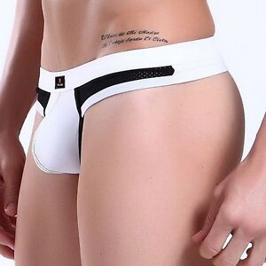 5-Choices-Sexy-Mens-Underwear-Low-Rise-Thongs-G-string-Boxer-Briefs-T-back-S-M-L