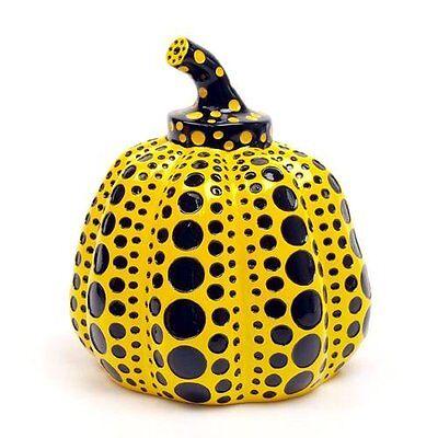 New! Yayoi Kusama Pumpkin Japan Artist Paperweight Object Sculpture Yellow F/S
