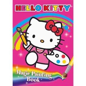 Hello Kitty Magic Painting Book - Children, Activity Colouring Party Bag, Gifts