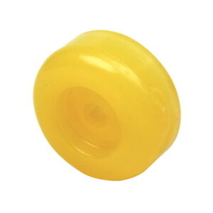 3-1-8-Inch-OD-Boat-Trailer-Non-Marking-Yellow-Molded-Rubber-Keel-Roller-End-Cap