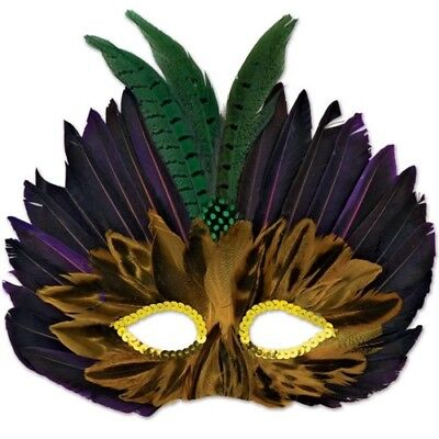 Mardi Gras Feathered Mask Half Mask Mardi Gras Party Supplies and Decorations - Mardi Gras Feathers