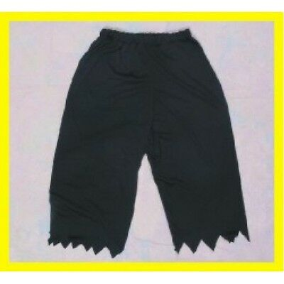 ADULT COLONIAL RENAISSANCE PIRATE KNICKERS JAGGED PANTS VICTORIAN COSTUME BLACK (Pirate Adult Costume)