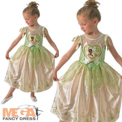 Loveheart Tiana Girls Fancy Dress Disney Fairytale Kids Childs Costume Outfit  (Tiana Outfit)