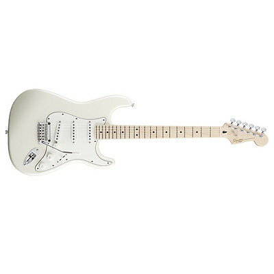 FENDER SQUIER Deluxe Stratocaster Electric Guitar Maple Pearl White Metallic