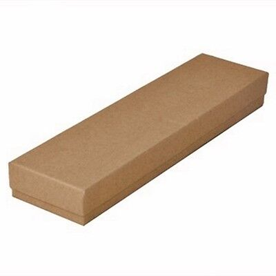Wholesale Lot 200 Kraft Brown Cotton Filled Jewelry Packaging Gift Boxes 8