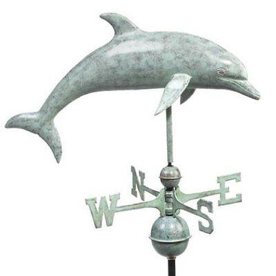 Good Directions Dolphin Weathervane - Blue Verde Copper 9507V1 Good Directions Dolphin