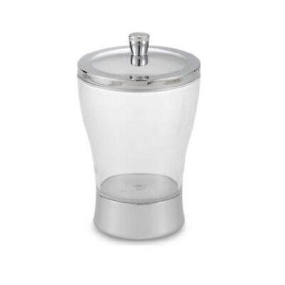 InterDesign Zia Cotton Swab Clear Jar