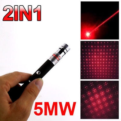 5mw 650nm Red Laser Pointer Pen Beam Light Visibale Lazer With Star Cap 2in1
