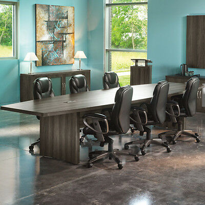 6ft - 18ft Modern Conference Table With Power And Data Meeting Boardroom 8 10 12