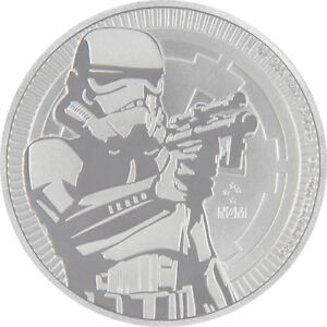 1 oz Pièce Argent Pur Star Wars Stormtrooper Fine Silver Coin