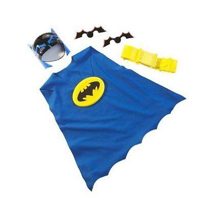 Batman Dress Up Costume Kit - Mask, Cape, Belt & 2 Batarangs - NEW - From - Boy From Up Costume