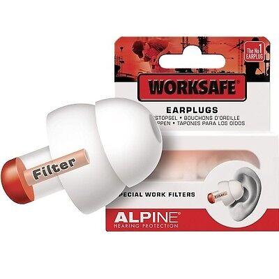 Alpine Gehörschutzstöpsel Worksafe, 1 Paar, Ohrschutz Ohrstöpsel Gehörschutz