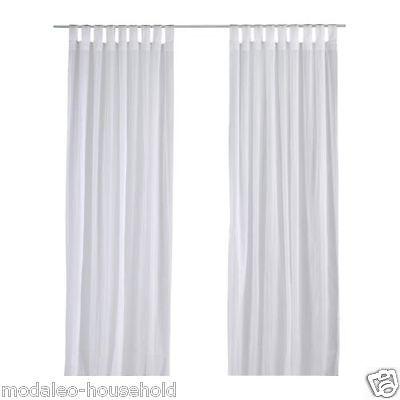 Curtains Ideas 300 cm length curtains : IKEA MATILDA Sheer curtains, 1 pair, white Length: 300 cm Width ...