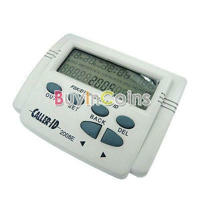 FSK/DTMF Caller ID Box + Cable Mobile Phone LCD Display White BY #X