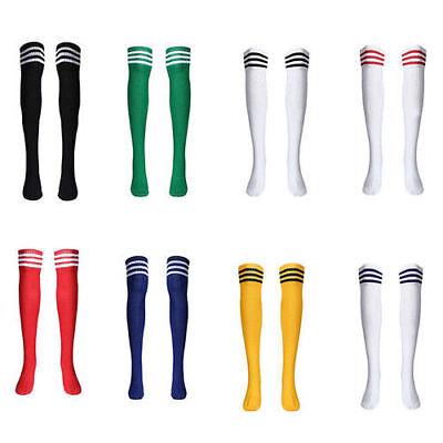 - Women's Sport Football Baseball Soccer Striped Socks Over Knee High Sock Hockey
