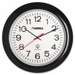 Lorell Wall Clock,13-1/4,Arabic Numerals,White Dial/Black Frame (LLR60994)