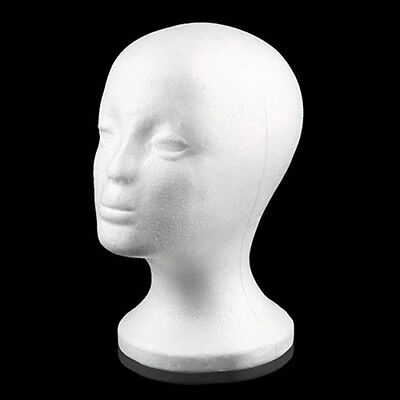 Female Styrofoam Mannequin Manikin Head Model Foam Wig Hair Glasses Display tall ()