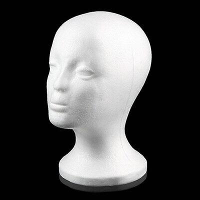 Female Styrofoam Mannequin Manikin Head Model Foam Wig Hair Glasses Display Tall