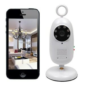 2 4ghz wireless wifi smartphone remote video baby monitor ir night vision camera. Black Bedroom Furniture Sets. Home Design Ideas