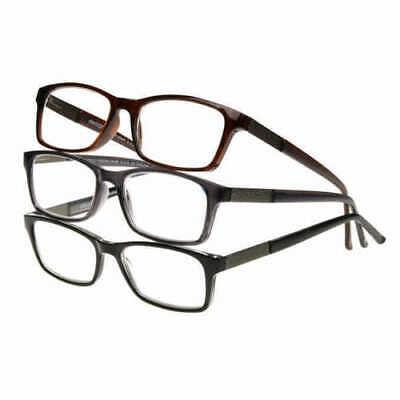 Design Optics By Foster Grant Full Frame Plastic 3pk Men Readers Reading (Design Optics Readers)
