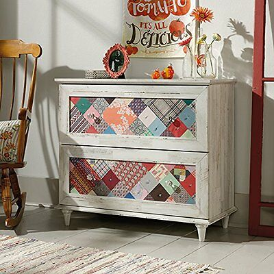 كومودينو جديد Sauder Eden Rue Accent Chest Wpl 419776 White Plank Finish