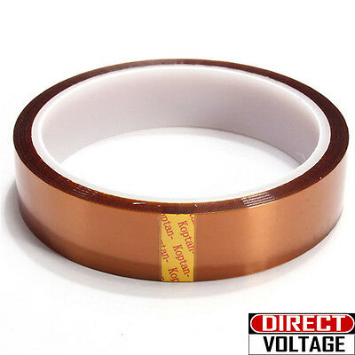 20mm X 100ft Gold High Temperature Heat Resistant Kapton Tape Polyimide Bga