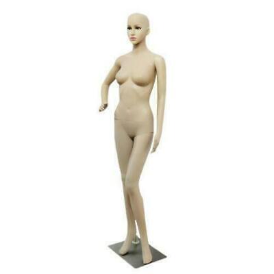 Female Mannequin Realistic Plastic Full Body Dress Form Display W Base