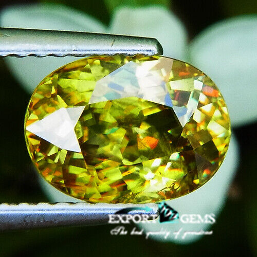 UNHEATED 2.26CT NATURAL YELLOW OVAL SPHENE