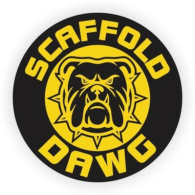 Scaffold Dawg Hard Hat Sticker / Helmet Decal / Label Scaffolder Builder Dog