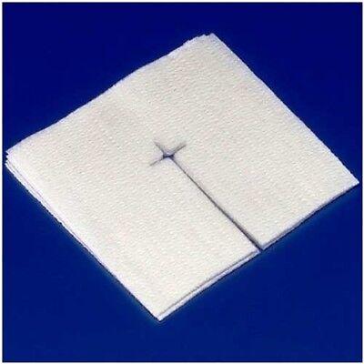 5 PACK! Medical Sterile Gauze Split IV Drain Sponge Dressing 4x4 6Ply 50/PK=250