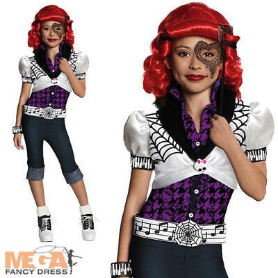 Monster High Operetta Child Halloween Costume (Operetta Girls Fancy Dress Monster High Phantom Halloween Kids Costume Outfit)