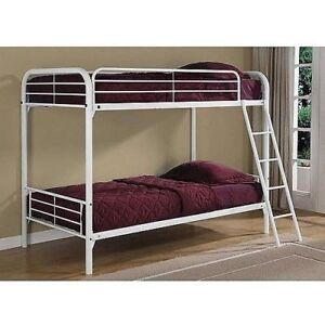 Metal white bunk bed for sale
