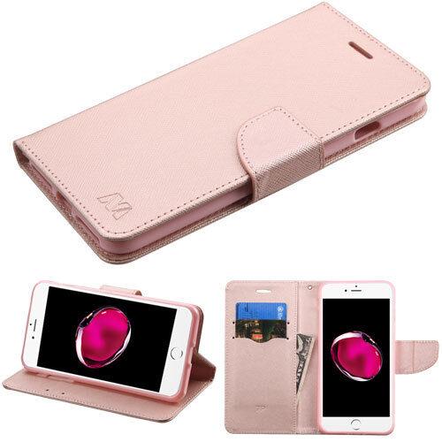 For Apple iPhone 7 Plus 7 Leather Flip Wallet Case Card Foli