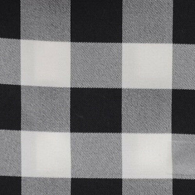 BLACK & WHITE CHECKERED TABLECLOTH - 60
