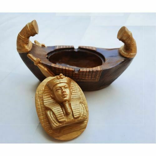 Egyptian  Boat - Ashtray  ( Handmade )