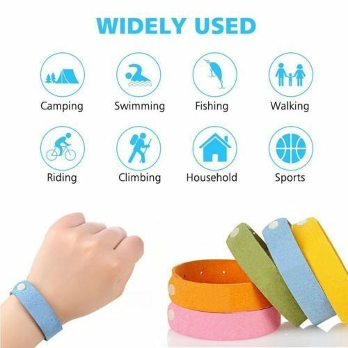 18 Pack Natural Mosquito Repellent Bracelet Bug Insect Prote
