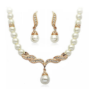 18K-Rose-Gold-Plated-Pearls-Necklace-and-Earrings-Set-with-Quality-Crystals-S911