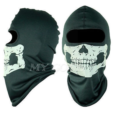 UK Skull Balaclava CS Hood Warm Winter Ski Motorcycle Face Mask Helmet Snood