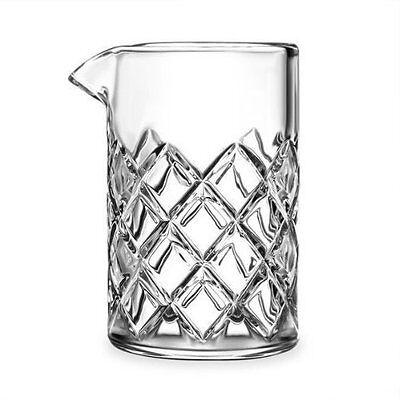 Cocktail Mixing Glass 500ml Mixer Pitcher Stir Drinks Yarai Pattern Heavy Duty