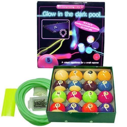 Aramith Glow In The Dark Billiard Pool Ball Set - Pool Table Conversion Kit