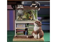 Linda Jane Smith. Comic And Curious Cat Figurines