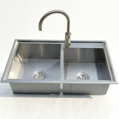 stainless steel sink for kitchen stainless steel kitchen sink topmount ebay 8294